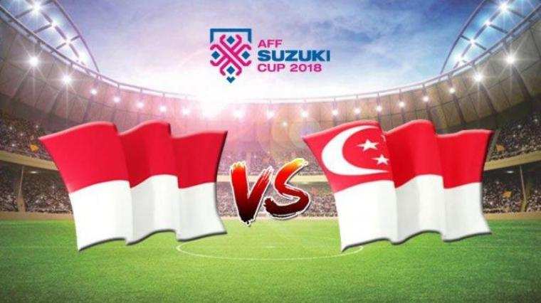 Indonesia vs Singapura. (Dok: Tribunnews)