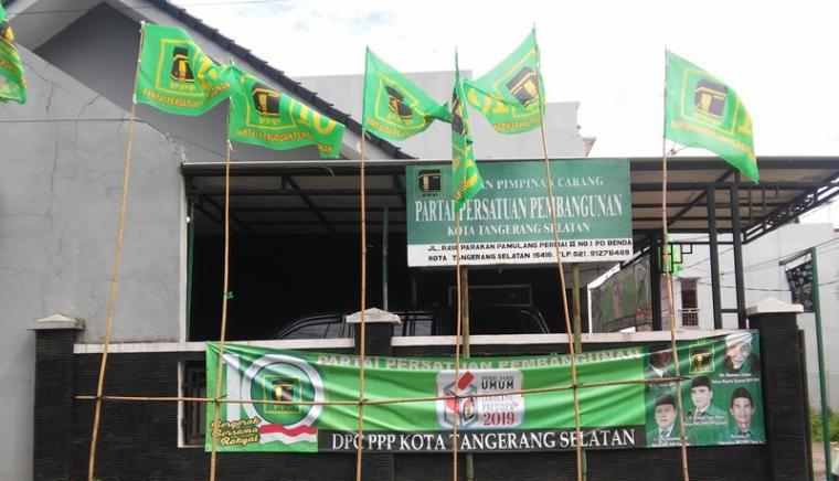 Kantor Sekretariat DPC PPP Kota Tangerang Selatan. (Foto: TitikNOL)