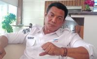 General Manager PT ASDP Indonesia Ferry Cabang Merak, Fahmi Alweni saat memberikan keterangan kepada awak media. (Foto: TitikNOL)