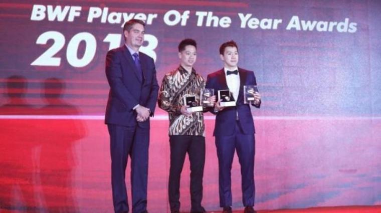 Kevin Sanjaya Sukamuljo/Marcus Fernaldi Gideon raih penghargaan Male Player of The Year oleh BWF (Badminton World Federation). (Dok: Suara)