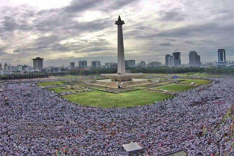 Aksi 212 di Lapangan Monas Jakarta. (Foto: Dok. GNPF)