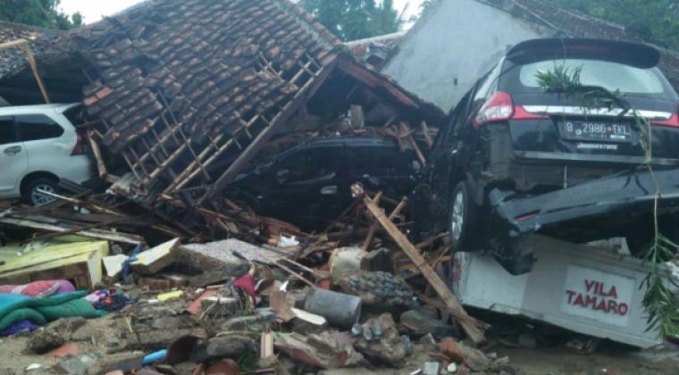 Kondisi pasca tsunami menerjang Banten. (Dok: TitikNOL)