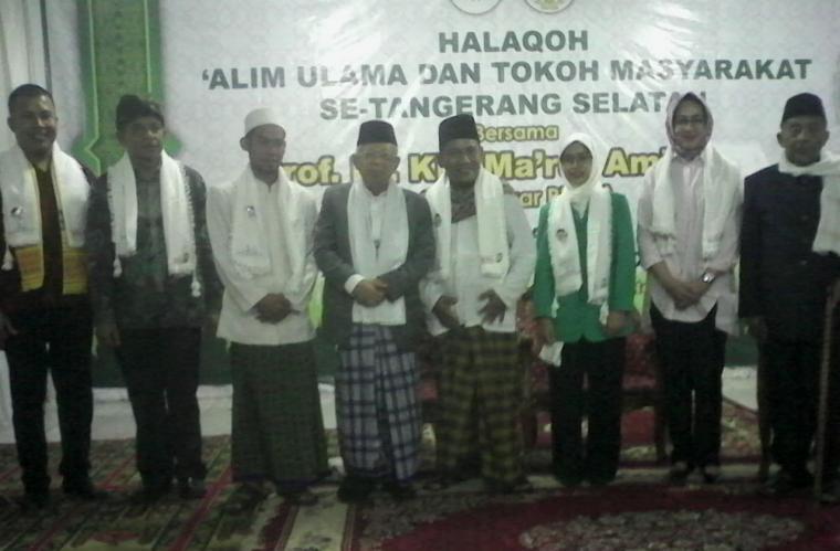 Calon Wakil Presiden 01 Ma'ruf Amin saat mengunjungi Ponpes Madinatunnajah, Jombang, Ciputat, Kota Tangerang Selatan. (Foto: TitikNOL)