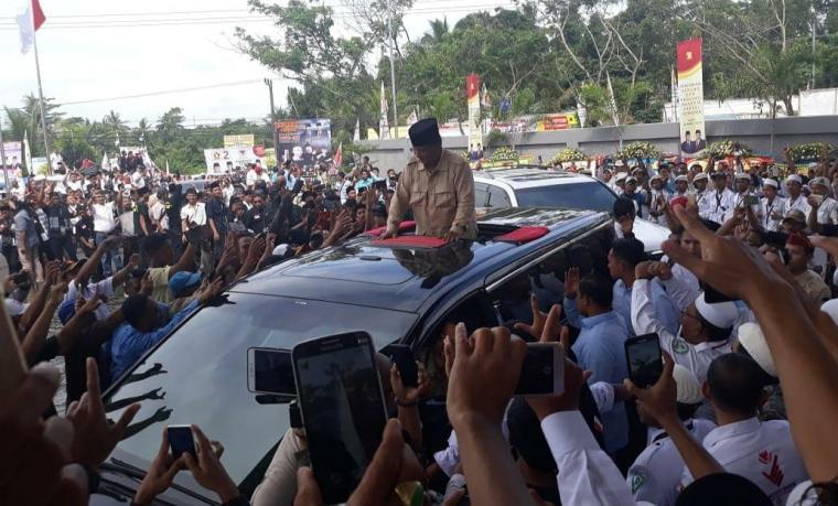 Calon Presiden nomor urut 02 Prabowo Subianto. (Foto: TitikNOL)