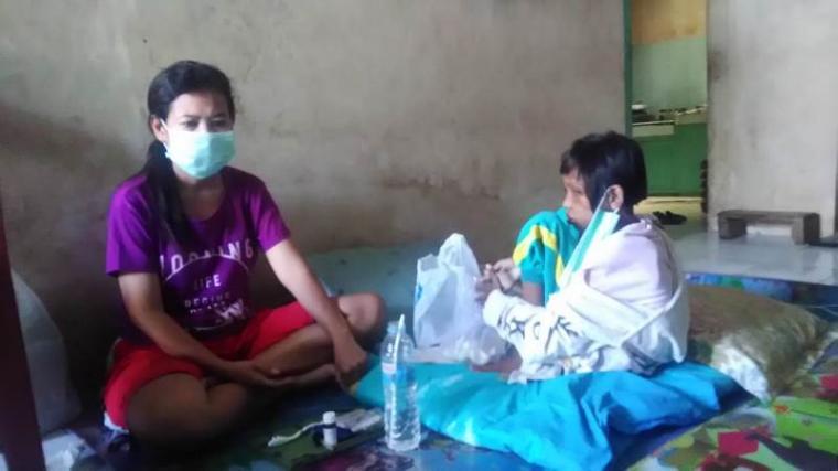 Riani (9), warga Puri Anggrek Blok D4 no 24, Kota Serang penderita gizi buruk. (Foto: TitikNOL)