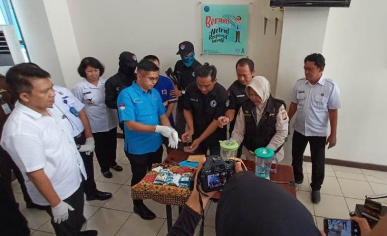 Barang bukti narkoba jenis shabu yang berhasil diamankan Badan Narkotika Nasional Provinsi (BNNP) Banten.