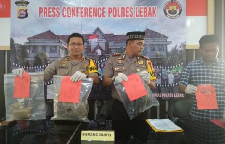 Press Conference Polres Lebak. (Foto: TitikNOL)