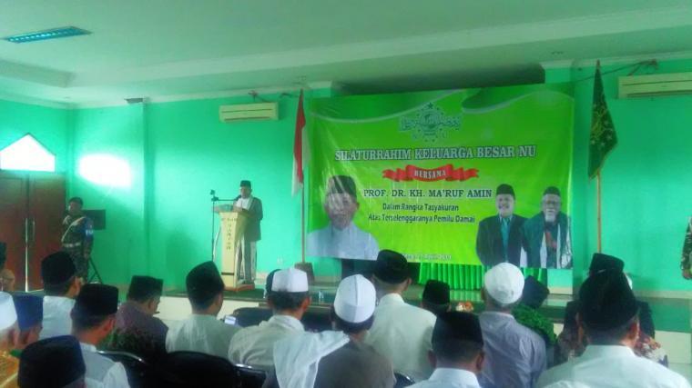 Suasana acara Silaturahmi keluarga besar NU di kantor PWNU Banten, Sabtu, (27/4/2019). (Foto: TitikNOL)