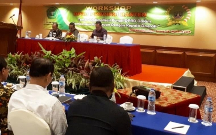 Dewan Perwakilan Rakyat Daerah (DPRD) Provinsi Banten melaksanakan Kegiatan peningkatan kapasitas (Bimtek) di kawasan wisata pantai Anyer, Kabupaten Serang.
