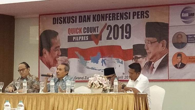 Konsep indo saat menggelar quick count Pilpres 2019. (Foto: TitikNOL)