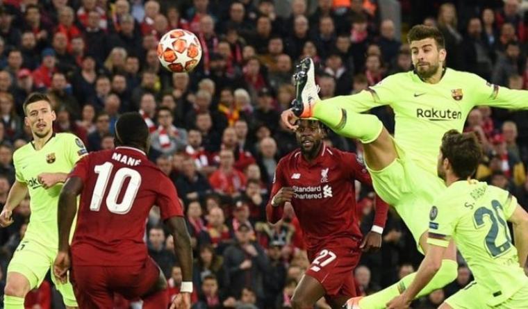 Liverpool vs Barcelona. (Dok: Kompas)