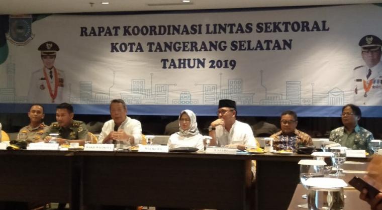 Rapat koordinasi tingkat sektoral di Sol Marina Hotel, Serpong Utara, Tangsel, Jum'at (4/5/2019). (Foto: TitikNOL)