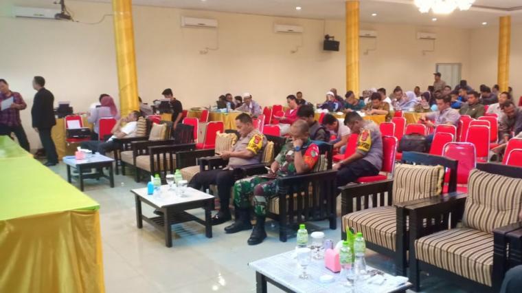 Rapat pleno terbuka rekapitulasi hasil perhitungan suara Pemilu 2019. (Foto: TitikNOL)