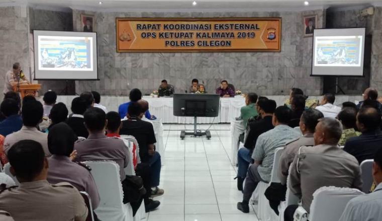 Suasana Rapat Koordinasi Eksternal Ops Ketupat Kalimaya 2019 di Mapolres Cilegon. (Foto: TitikNOL)