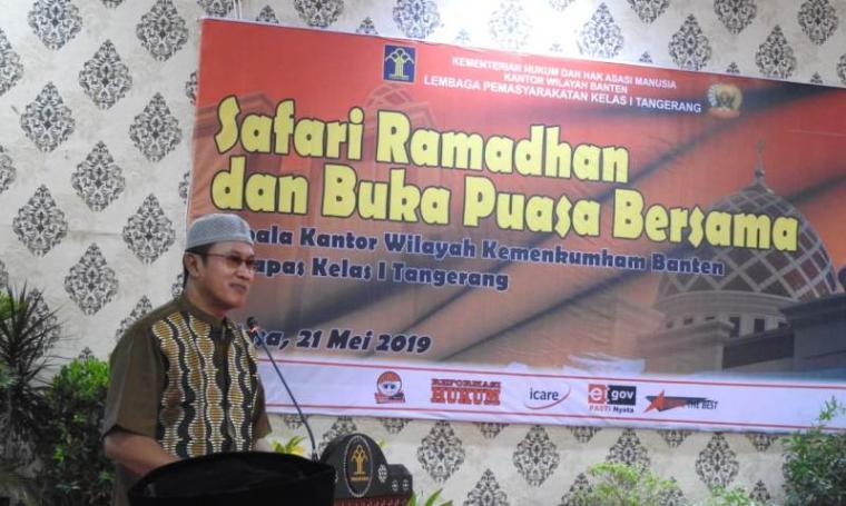 kegiatan Safari Ramadhan yang diselenggarakan di UPT Lapas Kelas 1 Tangerang. (Foto: TitikNOL)