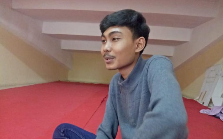 Asep Kalbarqil Khothif (21) siswa sekolah menengah atas negri (SMAN) 3 Kota Serang. (Foto: TitikNOL)