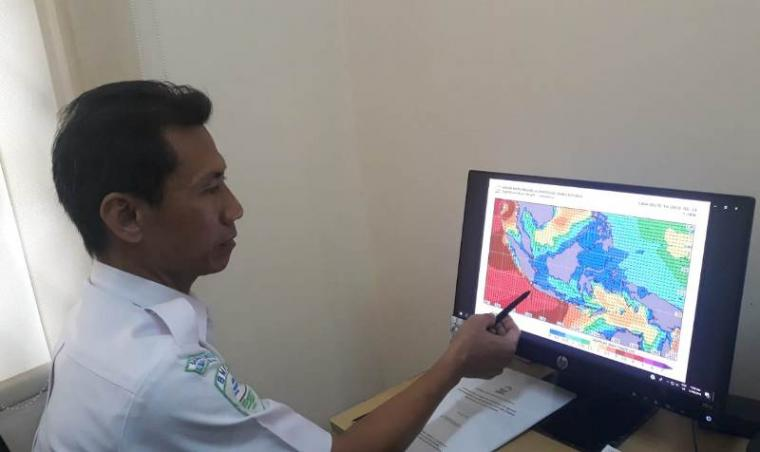 Kasi Data dan Informasi BMKG Klas I Serang Tarjono. (Foto: TitikNOL)