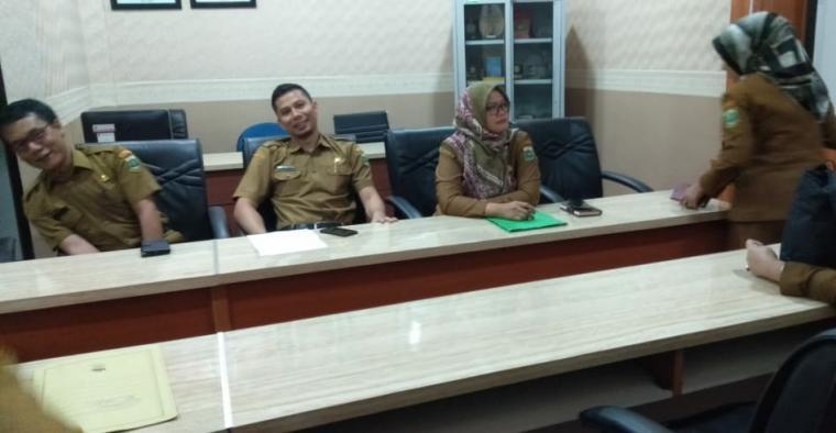 pejabat Provinsi Banten diperiksa oleh Inspektorat, Senin (22/7/2019). (Foto: TitikNOL)