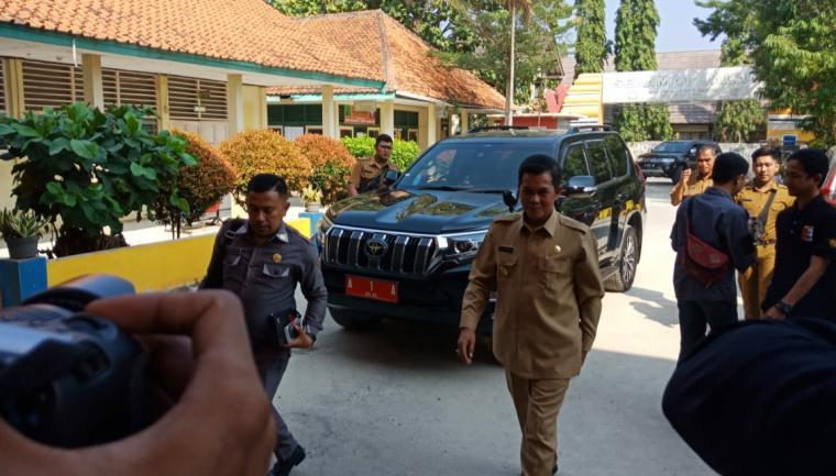 Wali Kota Serang Syafrudin, Sidak Sekolah Menengah Pertama Negeri (SMPN) 1 Serang di Ciceri, Kota Serang. (Foto: TitikNOL)