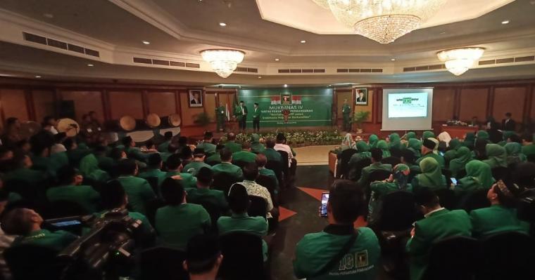 Musyawarah Kerja Nasional (Mukernas) ke IV Partai Persatuan Pembangunan (PPP), resmi digelar di salah satu hotel di Kota Serang, Jumat (19/7/2019). (Foto: TitikNOL)