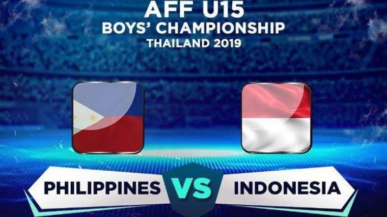 Filipina vs Indonesia AFF U-15. (Dok: Tribunwow)