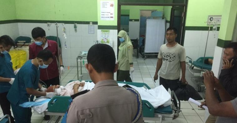 Siti Sa'adiah saat menjalani perawatan di UGD RSUD Cilegon. (Foto: TitikNOL)