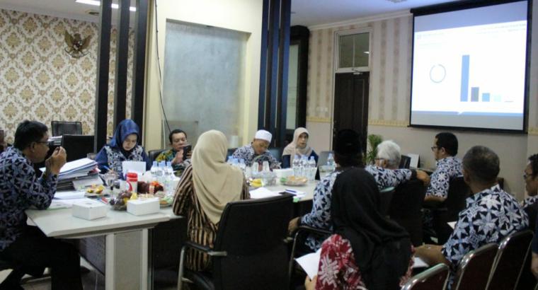 Suasana rapat dengan Sekretaris Daerah (Sekda) Lebak Dede Jaelani beserta seluruh Organisasi Perangkat Daerah (OPD), di ruang kerja Sekda Lebak. (Foto: TitikNOL)