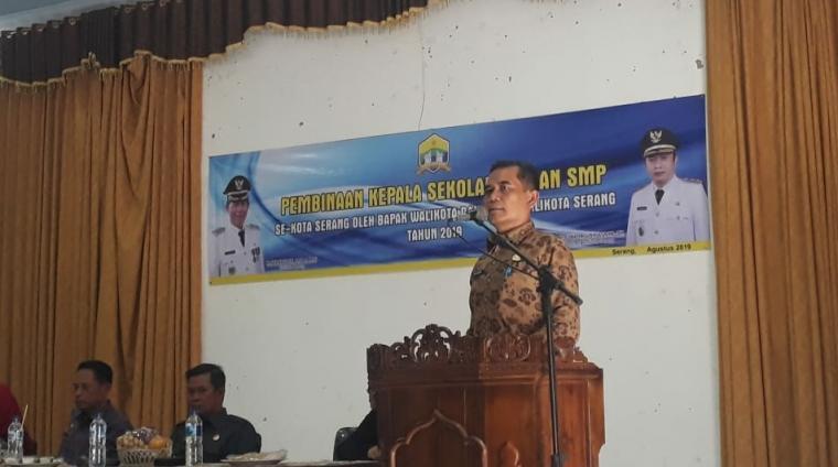 Kepala Dinas Pendidikan dan Kebudayaan (Dindik) Kota Serang, Wasis Dewanto. (Foto: TitikNOL)