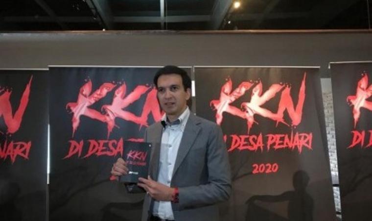 CEO MD Pictures Manoj Punjabi saat jumpa pers film KKN di Desa Penari, Jakarta Selatan, Selasa (24/9). (Dok: Republika)