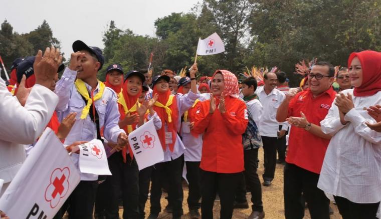 Jumpa Bakti Gembira (Jumbara) Palang Merah Remaja (PMR) III di Puspitek, Serpong, Kota Tangerang Selatan. (Foto: TitikNOL)