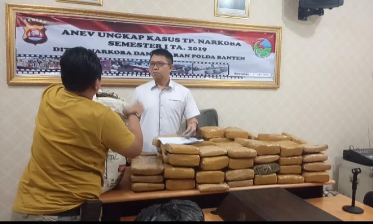 Barang bukti ganja yang berhasil diamankan Polda Banten. (Foto: TitikNOL)