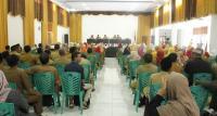 Suasana rapat pleno DPD II Partai Golkar Kota Serang yang digelar di gedung Golkar di Ciceri, Kota Serang. (Foto: TitikNOL)