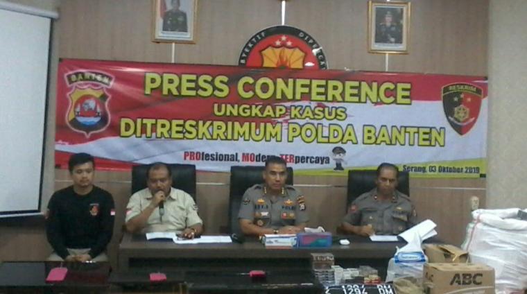 Press Conference Ditreskrimum Polda Banten. (Foto: TitikNOL)