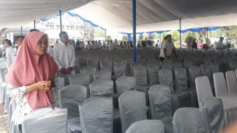 Suasana acara maulid nabi muhammad saw yang diselenggarakan oleh Pemkot Serang di halaman Kantor Walikota Serang. (Foto: TitikNOL)