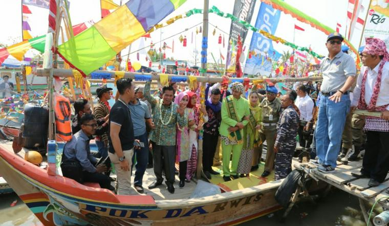 Lomba Festival Masyarakat Pesisir. (Foto: TitikNOL)