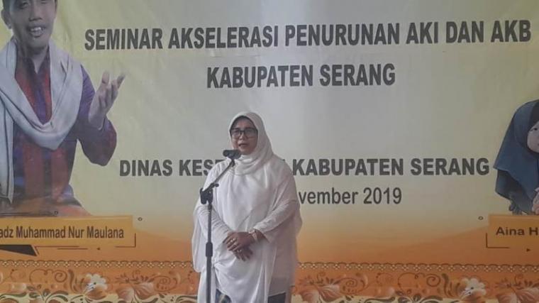 Kepala Dinas Kesehatan (Dinkes) Kabupaten Serang Sri Nurhayati. (Foto: TitikNOL)