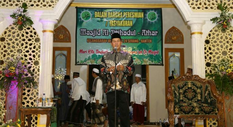 Peresmian Masjid Al-Ittihadul Athar di Kecamatan Kasemen, Kota Serang. (Foto: TitikNOL)