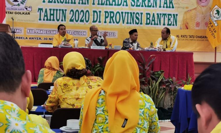 Rapat koordinasi persiapan Pilkada Serentak Tahun 2020 di Provinsi Banten. (Foto: TitikNOL)
