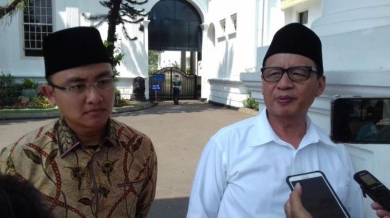 Gubernur Banten, Wahidin Halim (kanan) dan Wakil Gubernur Banten, Andika Hazrumy (kiri). (Dok: Tribunnews)
