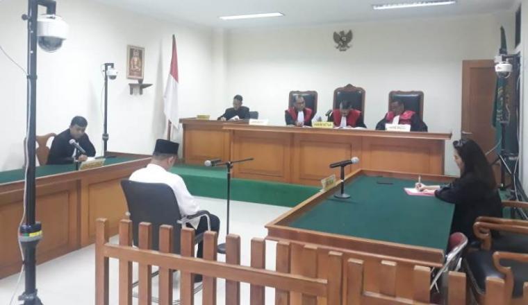 Sidang dugaan tindakan korupsi yang dilakukan terhadap dana hibah Komite Olahraga Nasional Indonesia (KONI) di Pengadilan Negeri (PN) Serang. (Foto: TitikNOL)