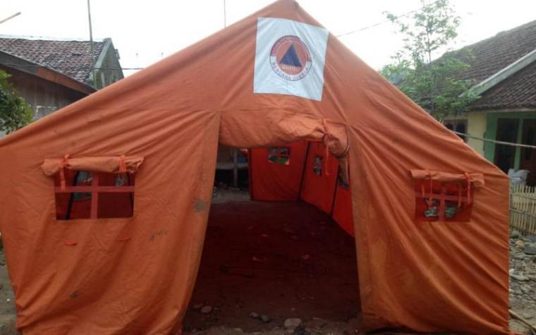 Tenda milik Badan Penanggulangan Bencana Daerah (BPBD) Banten. (Foto: TitikNOL)