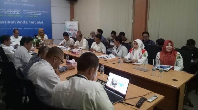 Badan Pusat Statistik (BPS) Banten, saat merilis angka kemiskinan di Banten. (Foto: TitikNOL)