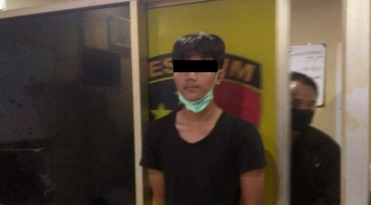 Pelaku Teror Tulisan Hasutan. (Foto: TitikNOL)