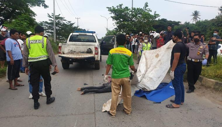 Pemotor tewas kecelakaan di Jalan Lingkar Selatan Cilegon .(Istimewa).