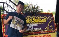 Koordinator Nelayan Pangsoran, Sarkani saat memberikan keterangan kepada awak media terkait rencana reklamasi di kawasan industri terpadu Wilmar. (Foto: TitikNOL)