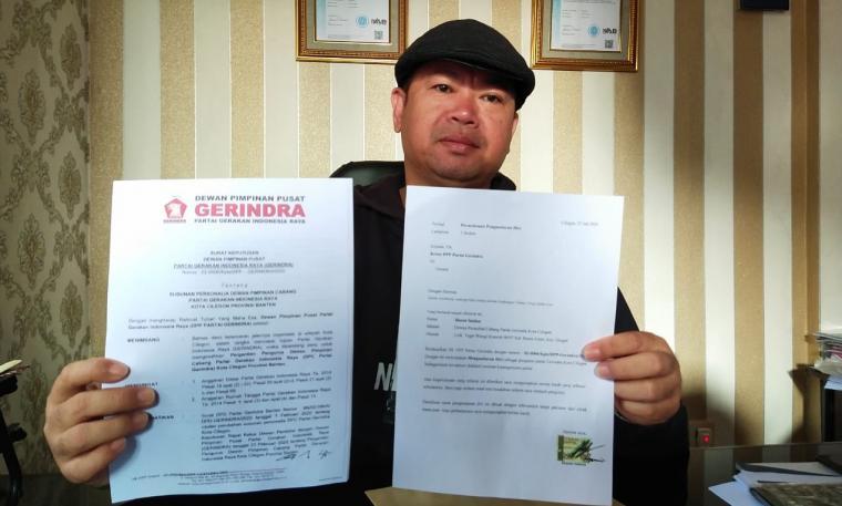 Mantan Anggota Dewan Penasehat DPC Partai Gerindra Kota Cilegon, Husen Saidan. (Foto: TitikNOL)