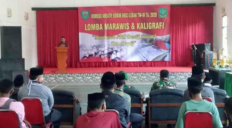 kegiatan Komunikasi sosial (Komsos) Triwulan lll Tahun Anggaran 2020 di aula Makodim, Rabu (23/9/2020). (Foto: TitikNOL)