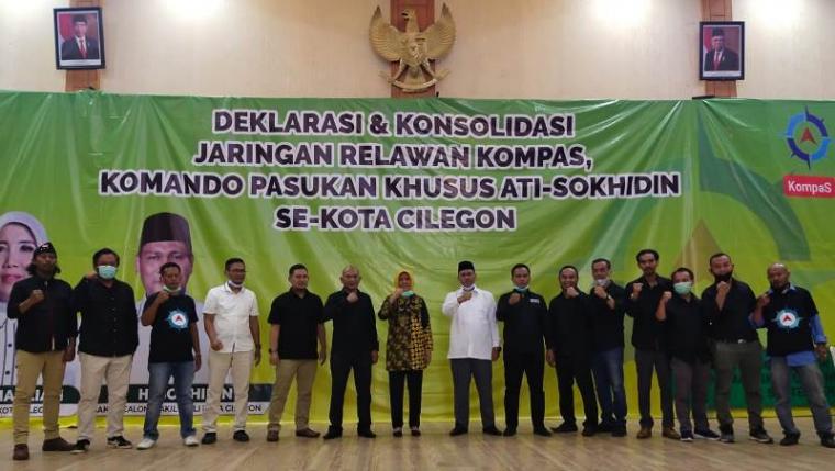 Deklarasi Relawan KompaS untuk pasangan Ratu Ati Marliati - Sokhidin. (Foto: TitikNOL)
