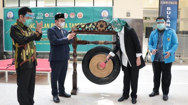 Walikota Tangerang Selatan, Airin Rachmi Diany saat launching bulan pemuda 2020 di Balaikota Tangerang Selatan. (Foto: TitikNOL)