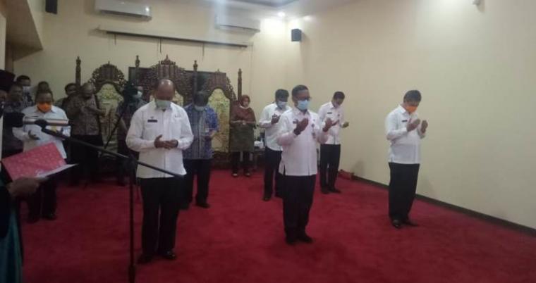 Suasana pelantikan 5 pejabat di Pendopo Gubernur Banten. (Foto: TitikNOL)